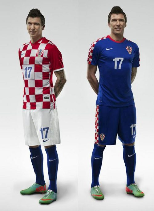 Croatia 2014 Home and Away Kits