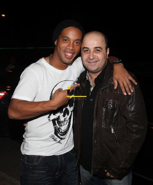10-11-2009 Ronaldinho and Markos Seferlis partying at Akroama. Athens, Attica, Greece, Europe Tom Daskalakis/IML Image Group