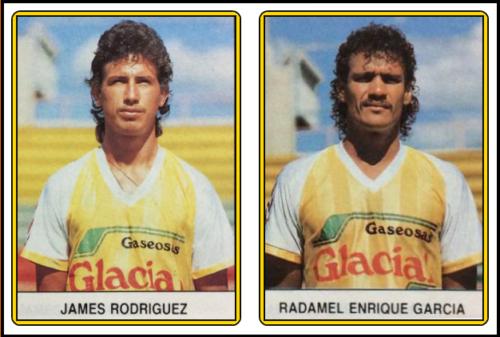 James RODRIGUEZ Father & Radamel Enrique GARCIA - Panini Figutita Deportivo Tolima 1987