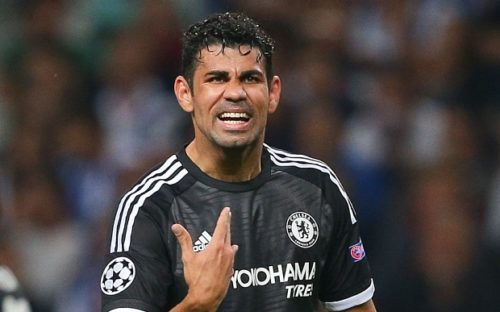 Editorial use only. No merchandising. For Football images FA and Premier League restrictions apply inc. no internet/mobile usage without FAPL license - for details contact Football Dataco Mandatory Credit: Photo by Kieran McManus/BPI/REX Shutterstock (5198465cz) Diego Costa of Chelsea gestures during the UEFA Champions League Group G match between FC Porto and Chelsea played at Estadio Do Dragao, Porto UEFA Champions League 2015/16 Group Stage Group G FC Porto v Chelsea Estadio Do Dragao, Oporto, Portugal - 29 Sep 2015
